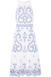 Tory Burch Mariana embroidered cotton midi dress