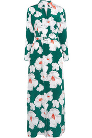 Major floral-print washed-silk maxi dress
