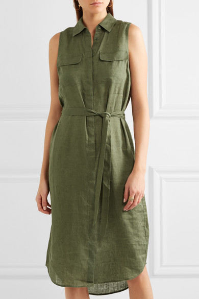 4350c8ec Equipment | Tegan linen shirt dress | NET-A-PORTER.COM