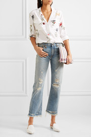 Equipment Ansley floral-print washed-silk shirt