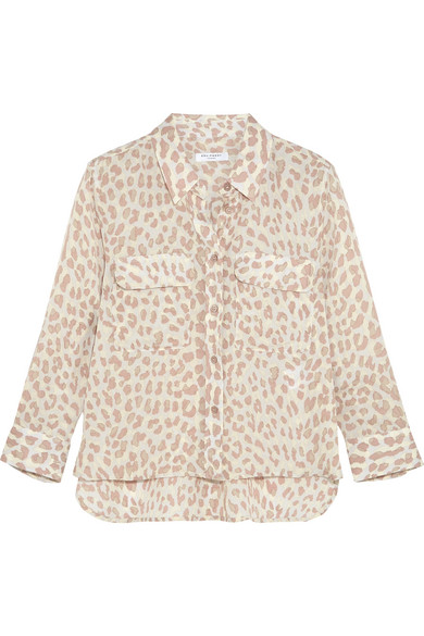 Equipment - Leopard-print Washed-silk Shirt - Leopard print