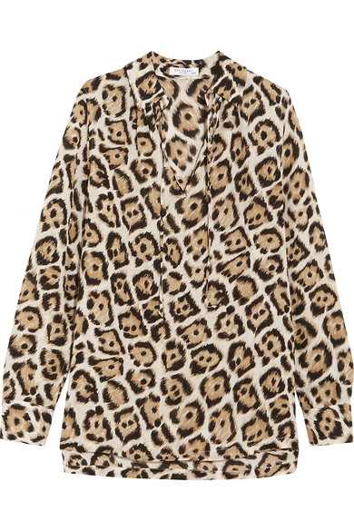 Equipment - Bristol Leopard-print Silk Blouse - Leopard print