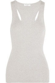 Equipment Miller ribbed cotton, silk and cashmere-blend tank