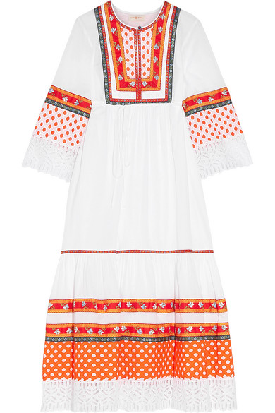 Free Shipping Get Authentic Cheap Price For Sale Tory Burch Woman Annalise Lace-trimmed Embroidered Cotton-voile Midi Dress White Size 0 Tory Burch Low Shipping Fee Sale Online f9mKqyE