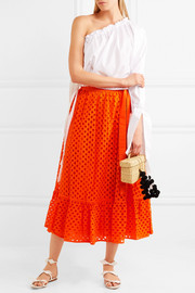 Hermosa broderie anglaise cotton wrap skirt