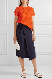Tory Burch Hermosa broderie anglaise and cotton-jersey top