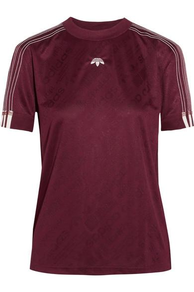 Adidas Originals By Alexander Wang - Embroidered Jacquard T-shirt - Merlot