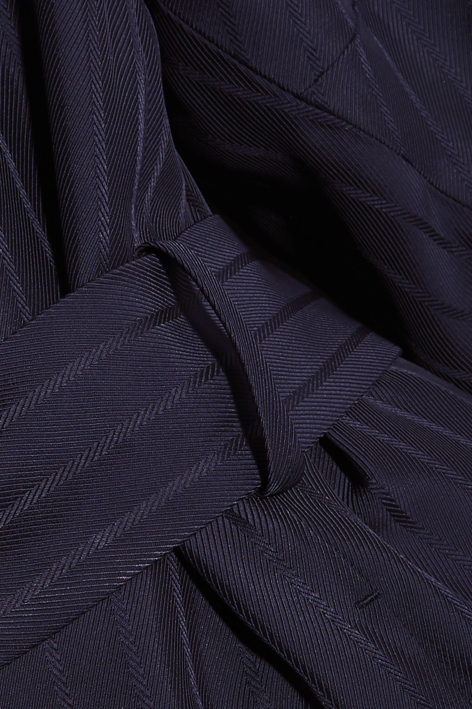 Acne Studios Oceane belted striped twill coat