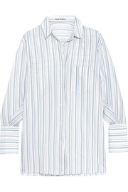 Bai oversized striped cotton shirt
