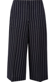 Acne Studios Texel cropped pinstriped wool-twill wide-leg pants