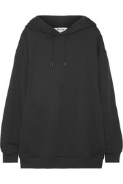 Acne Studios Yala oversized embroidered cotton-jersey hooded top