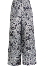 Tennessee printed chiffon wide-leg pants