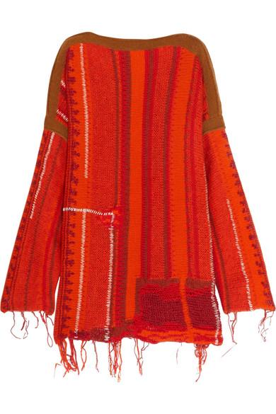 Acne Studios - Anastasia Merino Wool-blend Mini Dress - Orange