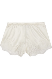 Dolce & Gabbana Lace-trimmed silk-blend satin briefs