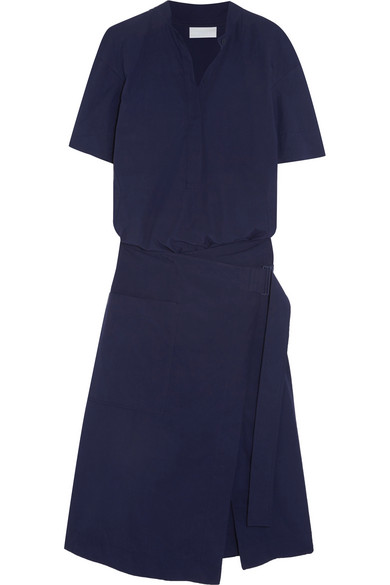 DKNY - Cotton Wrap Dress - Midnight blue