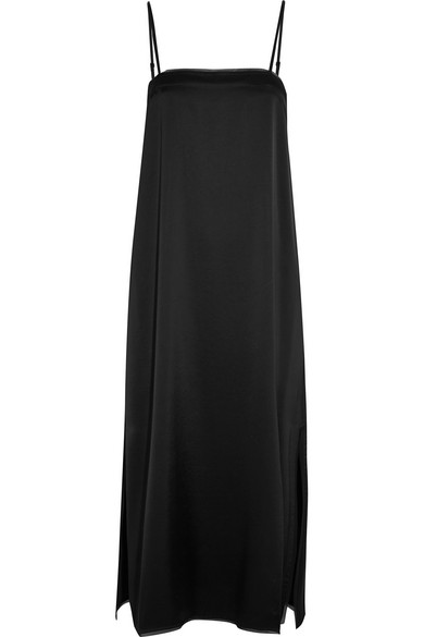 DKNY - Satin Midi Dress - Black