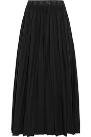 DKNY Pleated shell midi skirt