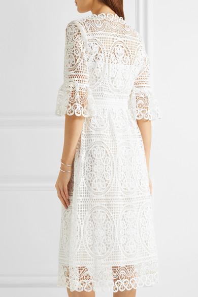 410a0e2c50fb Temperley London. Titania guipure cotton-lace midi dress.  1