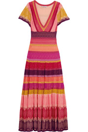 Sunlight striped crochet-knit midi dress