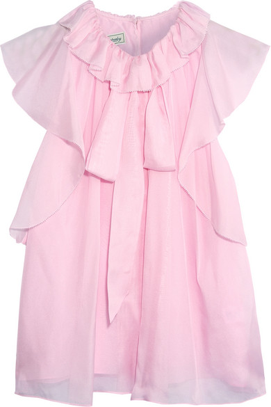 Temperley London - Allure Ruffled Silk-chiffon Blouse - Pink
