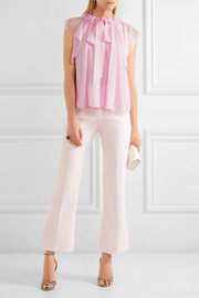 Temperley London Allure ruffled silk-chiffon blouse