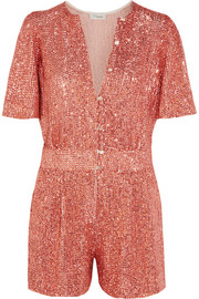 Fairy Queen sequined tulle playsuit