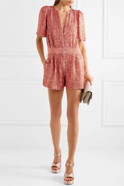 Temperley London Fairy Queen sequined tulle playsuit