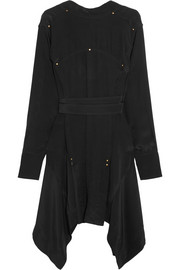 Isabel Marant Orleanne studded silk crepe de chine dress