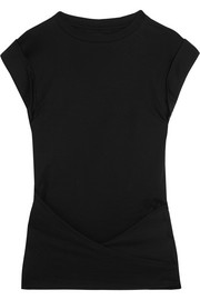 Isabel Marant Lowell draped cotton-jersey top
