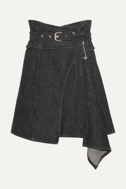 Isabel Marant Eydie asymmetric wrap-effect denim skirt