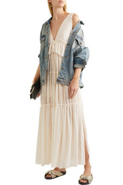 See by Chloé Tiered voile maxi dress
