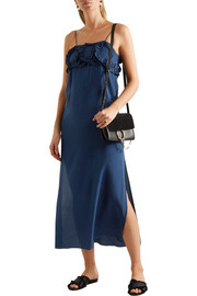 See by Chloé Ruffled silk crepe de chine dress