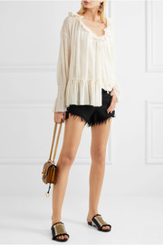 See by Chloé Ruffled voile blouse