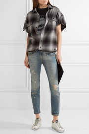 Boy distressed mid-rise skinny jeans