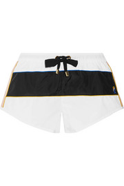 Paneled shell shorts