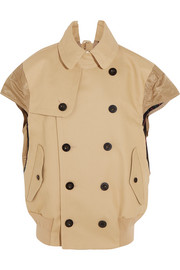 Shell-paneled cotton jacket