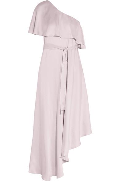 Zimmermann - One-shoulder Ruffled Silk Midi Dress - Lilac