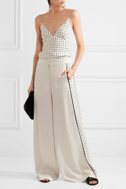 Zimmermann Polka-dot satin wide-leg pants