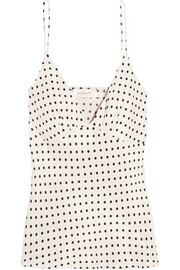 Zimmermann Polka-dot satin camisole