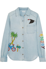 Ice Cream Van painted denim shirt