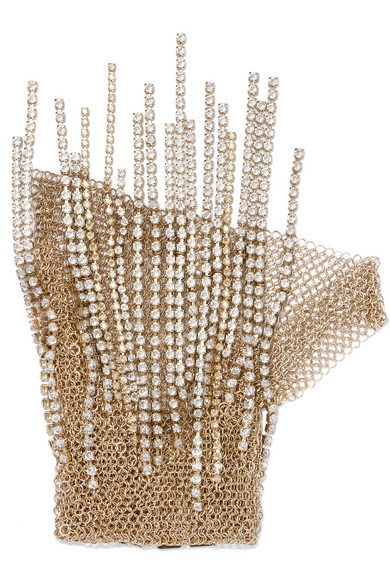 Lanvin - Gold-tone Crystal Glove at NET-A-PORTER