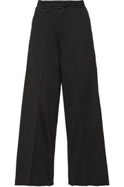 Sophie satin-trimmed cady wide-leg pants