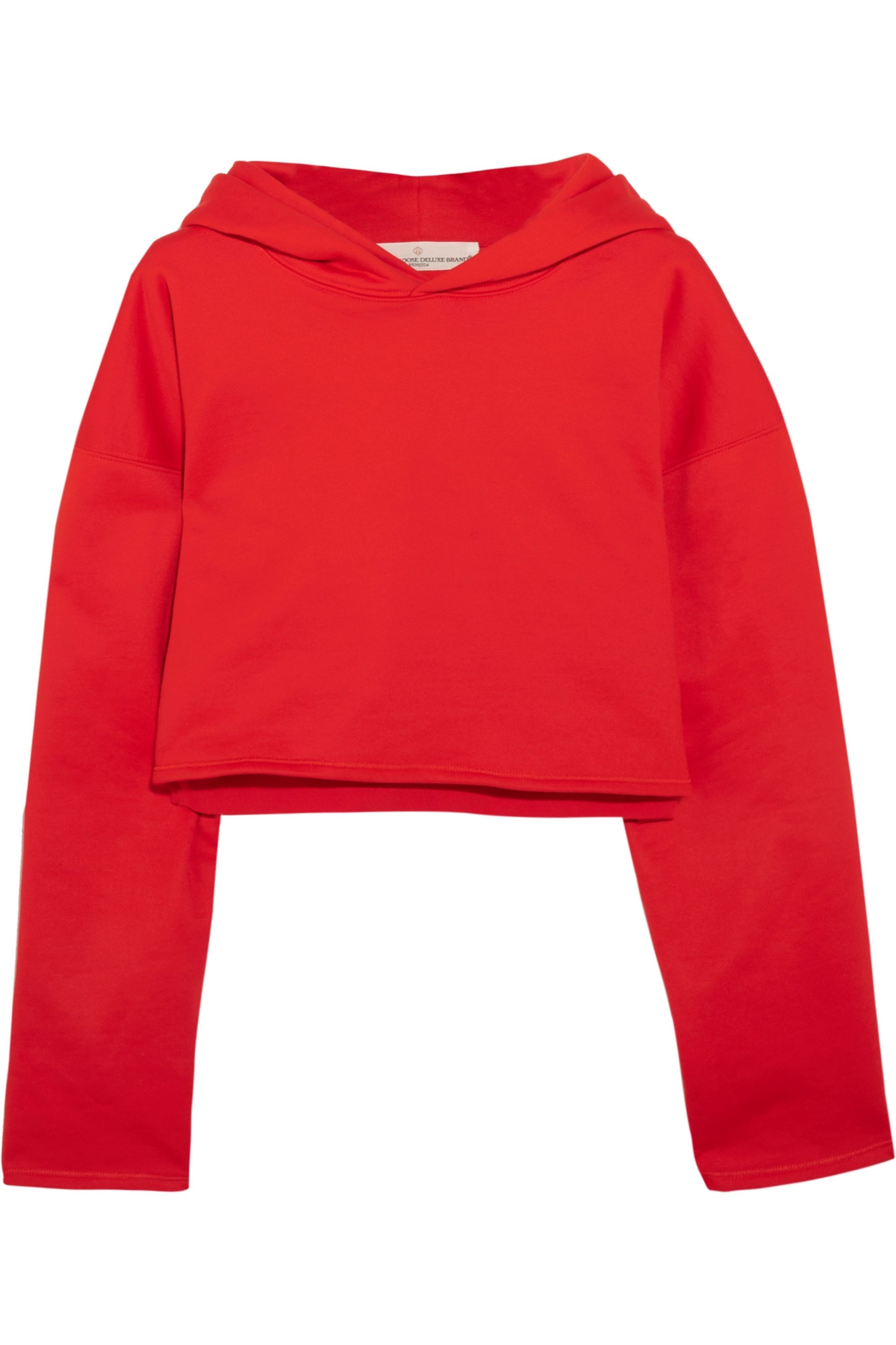 Golden Goose Cropped cotton-jersey hooded top