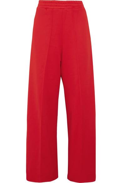 Golden Goose Deluxe Brand - Sophie Satin-trimmed Cotton-blend Jersey Track Pants - Red