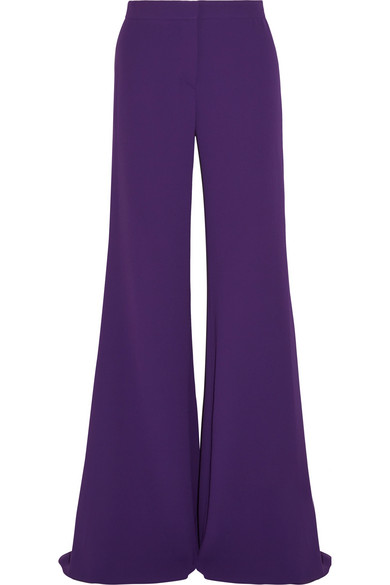 Gareth Pugh - Crepe Wide-leg Pants - Purple
