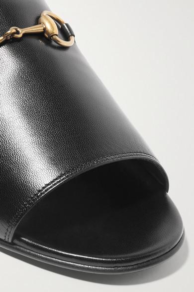 Gucci Pantoletten aus Leder mit Horsebit-Detail Outlet Brandneue Unisex Billige Schnelle Lieferung GjQ4yMEe