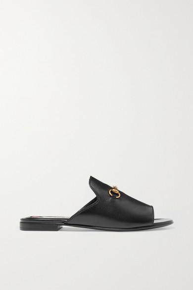 Horsebit leather slides Gucci tHusb