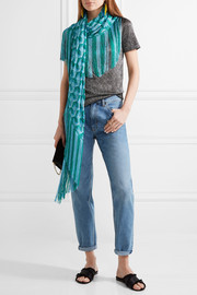 Missoni Metallic fringed crochet-knit scarf