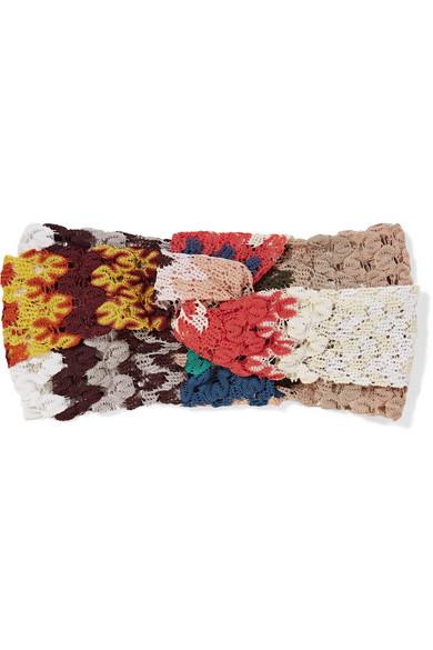 Missoni - Twisted Crochet-knit Headband - Coral