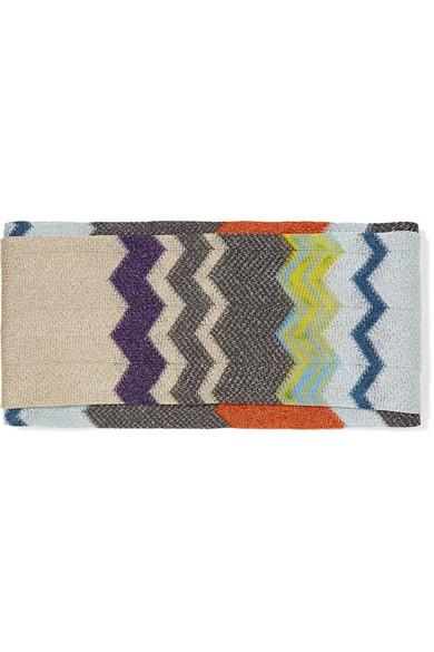 Missoni - Metallic Crochet-knit Headband - Beige